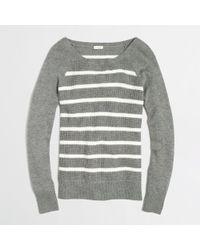 J.Crew Factory Warmspun Waffle Sweater in Stripe - Lyst