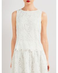 Bruce By Bruce Oldfield - Guipure Lace Shell Top - Lyst