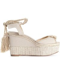 Paul Andrew Patmos Wedge Espadrille Sandals - Lyst