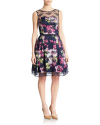 Eliza J Floral Fit And Flare Dress multicolor - Lyst