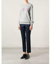 Markus Lupfer Sequin Embroidered Sweatshirt - Lyst