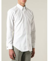 Thom Browne Striped Collar Shirt - Lyst