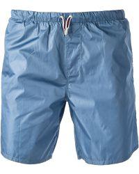 Gucci Drawstring Swim Shorts blue - Lyst