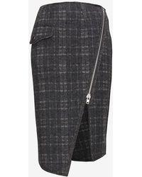 Jonathan Simkhai Asymmetric Zip Wool Skirt - Lyst