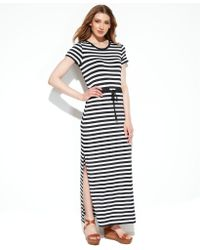 Michael Kors Michael Shortsleeve Striped Maxi Dress - Lyst