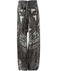 Roberto Cavalli Printed Wide Leg Trousers - Lyst