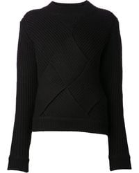 Carven Ribbed Sweater - Lyst