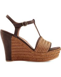 Ugg Fitchie Leather Woven Sandals - Lyst
