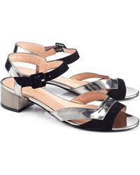 Robert Clergerie Metallic Grey Sanpe Sandals - Lyst
