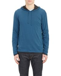 Vince Double Layer Hoodie - Lyst
