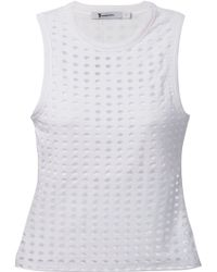 T By Alexander Wang Perforated Tank Top - Lyst