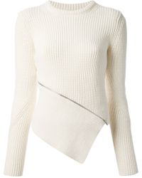 Alexander Wang Asymmetric Zip Sweater - Lyst