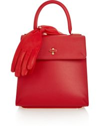 Charlotte Olympia Bogart Textured-Leather Tote - Lyst