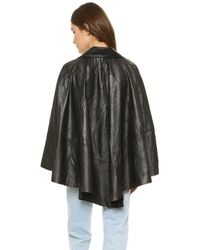 RTA - Harley Leather Cape - Black - Lyst