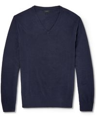 J.Crew Cottoncashmere Knitted Sweater - Lyst