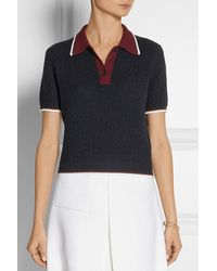 Miu Miu Textured-wool Polo Shirt - Lyst