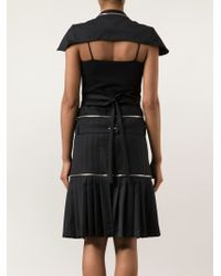 Hood By Air - Pleated Skirt Cape Dress - Lyst