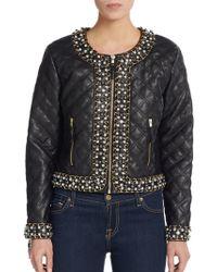 Saks Fifth Avenue Black Label - Quilted Embellished Jacket - Lyst