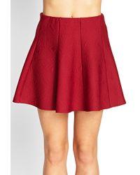 Forever 21 Geo Quilted Skater Skirt - Lyst