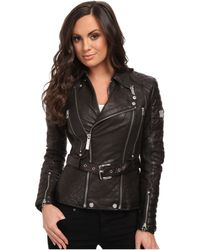 Affliction Prism Leather Jacket - Lyst
