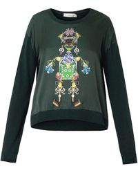 Mary Katrantzou Knipi Tikki Man Sweater - Lyst