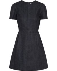 Victoria Beckham Denim Mini Dress - Lyst