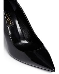 Lanvin Pearl Screw Ornament Leather Pumps - Lyst