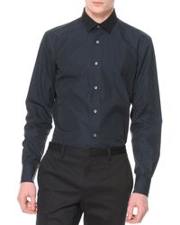Lanvin Contrast Collar Button-down Shirt - Lyst