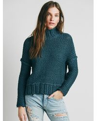 Free People Chunky Cowl Neck Sweater - Lyst