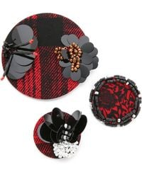Marc By Marc Jacobs - Embellished Badge Set - Ruby Red Multi - Lyst