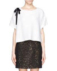 Sandro Asymmetric Ribbon Top - Lyst