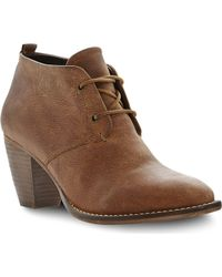 Steve Madden Juddith Leather Ankle Boots - Lyst