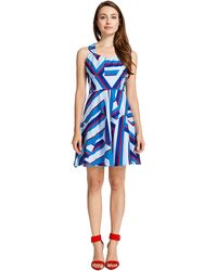 Cynthia Steffe Multicolored Printed Dress - Lyst