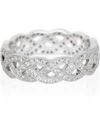 Kojis - White Gold Diamond Celtic Style Ring - Lyst
