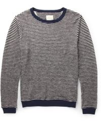 Band Of Outsiders Striped Cotton and Woolblend Sweater - Lyst