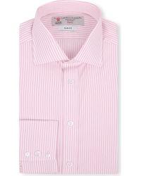 Turnbull & Asser Bengal-striped Slim-fit Single-cuff Shirt - Lyst