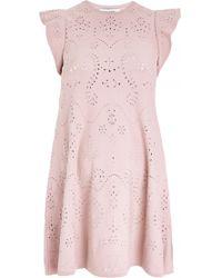 Valentino Ruffle Sleeve A-Line Dress - Lyst