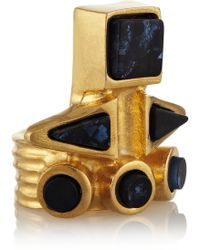 Vionnet Goldplated Resin Ring - Lyst