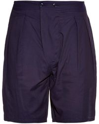 Lemaire - Relaxed-Fit Pleated Cotton Shorts - Lyst