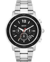 shop men s dkny watches from 80 lyst dkny tompkins oversized chronograph watch men s lyst