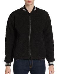 Elizabeth And James Lena Sherpa Quilted Fleece Varsity Jacket - Lyst