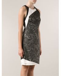 J. Mendel Two Tone Dress - Lyst