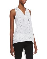 Tibi Splatter Dot Sleeveless Top - Lyst