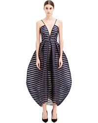 Vionnet Womens V Striped Gown - Lyst