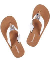 Black.co.uk - St Tropez - White Flip Flops - Lyst