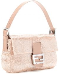 Fendi Baguette Beaded Shoulder Bag - Lyst