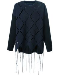 Proenza Schouler Argyle Perforated Sweater - Lyst