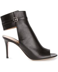 Gianvito Rossi Open Toe Booties - Lyst