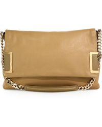 Jimmy Choo Ally Two-Tone Leather Shoulder Bag - Lyst