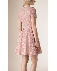 Burberry | English Lace A-line Dress | Lyst